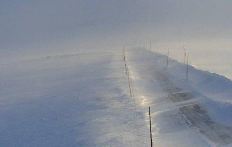 Slik så det ut på Skulevik på Hardangervidda klokken 0722.