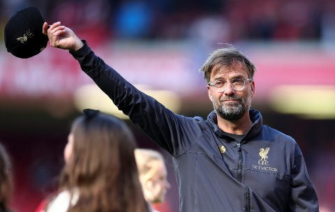 Liverpool-manager Jürgen Klopp har en god statistikk mot Arsenal. (AP Photo/Dave Thompson)