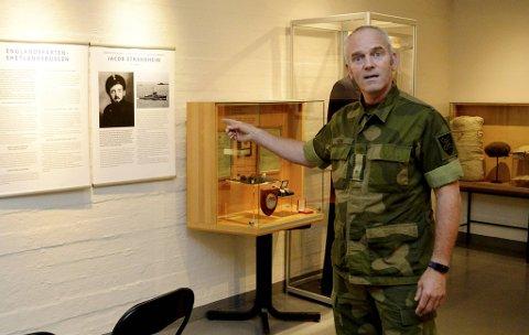Major Harald Gåsø  er daglig leder på Bergenhus festningsmuseum.