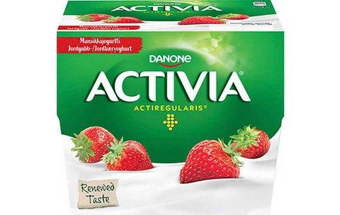 Produsenten Danone tilbakekaller et parti med Activia jordbæryoghurt som kan inneholde plastbiter.