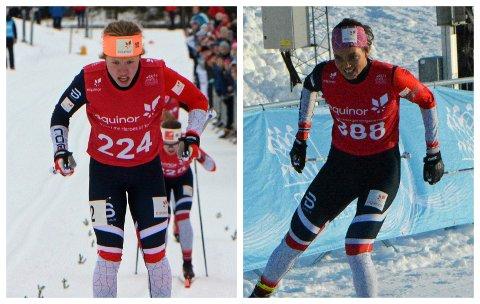 TYVSTART: Det ble aldri noe av duellen mellom fremadstormende Helene Fossesholm (t.v.) og Kristine Stavås Skistad i sprint lørdag. Stavås Skistad ble disket på grunn av tyvstart.