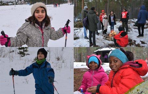 UT PÅ TUR: Lørdag var 24 innvandrere og flyktninger på skitur med DNT Drammen og Omegn.