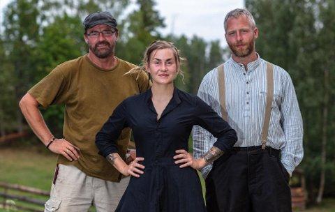 KJENTE FJES: Lasse Bergseter (51), Camilla Cox Barfot (34) fra Viker og Andreas Nørstrud (34) har alle deltatt i Farmen tidligere sesonger - nå er de tilbake på Torpet.
