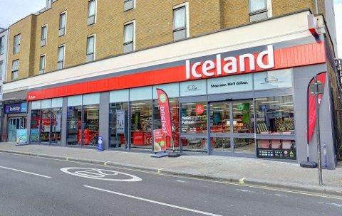 VIL VOKSE: Iceland Foods har over 900 butikker i Storbritannia. Nå har en gruppe aktører sikret seg rettighetene til franchise i Norge.