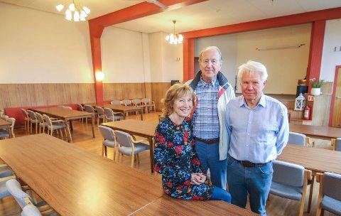 Vital 61-åring: Fjellheim er fortsatt et begrep på Kråkerøy. Ragnhild Hofgaard, Svein Skahjem og Per-Henning Wold er tre av dem som har jobbet med å samle historien om samfunnshuset.