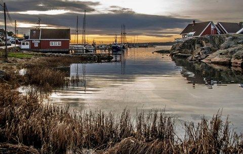 22. januar 2020: Sommerparadiset Engelsviken tar seg også godt ut i januar, selv om det er lite vinterpreg over havnen.