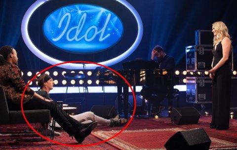 På Idol-audition knakk Andreas «TIX» Haukeland blyanten sin mens Oda Gondrosen sang! Fredag kveld falt TIX av stolen etter Oda sin opptreden.
