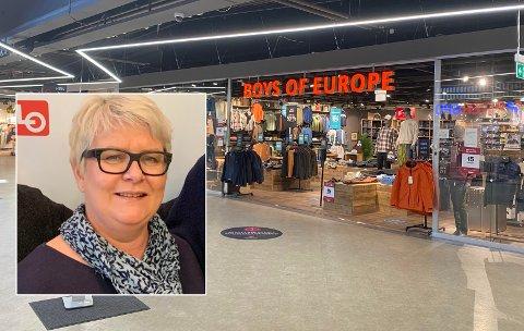 PÅ JOBBJAKT: Boys of Europe på Buskerud Storsenter søker etter selger i tre prosent stilling. Det liker regionleder i Handel og Kontor Tone Hartz veldig dårlig.