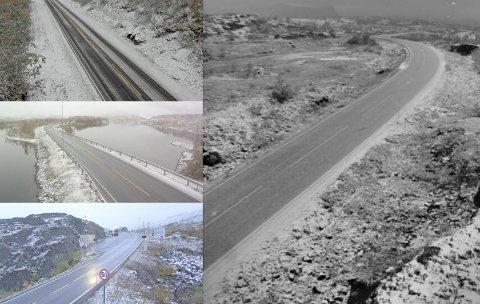 Hvit nedbør: I natt har det kommet hvit nedbør på fjellovergangene i regionen.