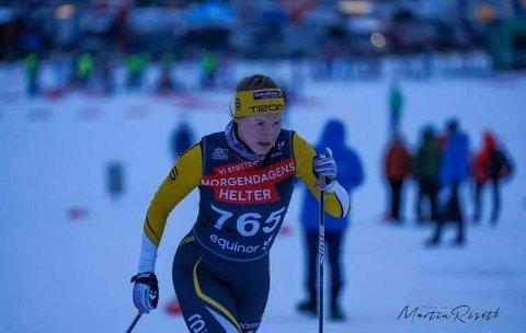 TOER: Eline Hansen fra Ballangen kom på en sterk andreplass under langrennsåpningen.