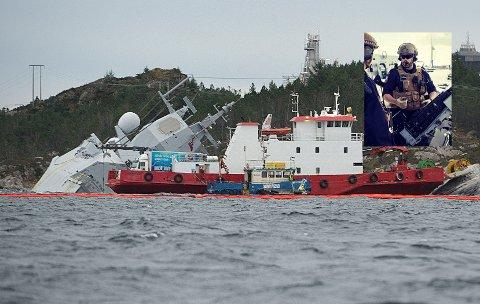Bjørn Jøran Moen (24, innfelt) fra Tretten sov inne i lugaren sin da KNM Helge Ingstad kolliderte med et tankskip og gikk på grunn. Da fulgte det noen dramatiske minutter og timer, men Bjørn Jøran og mannskapet var hele tiden rolige.