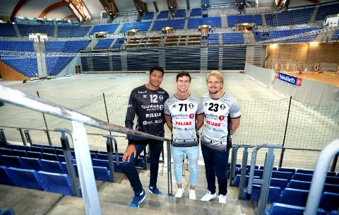 Elverumspelarane  Emil Kehri Imsgard, Alexander Blonz og Magnus Fredriksen er klare for å spele framfor eit rekordstort publikum i Håkons Hall.