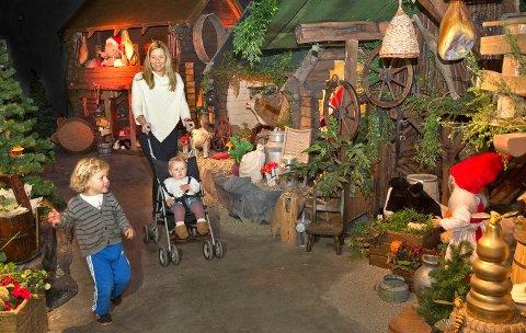 Dette bildet viser nisseutstillingen på Barnas Gård som nå er til salgs.