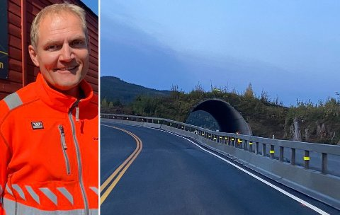SAGA BLOTT: Minitunnelen på E16 ved Olum ble laget for at vilt skulle komme seg over veien. Nå skal den fjernes. Det bekrefter Pål-Steinar Karlsen, byggeleder i Statens vegvesen.