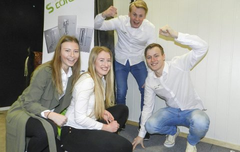 SCORD UB: Fra venstre: Julie Larsen Stø, Kristin Sigholt Mageli, Sigurd Tjernes og Johann Berg.