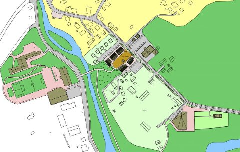 Sentrumsscenario Røldal: Ein offentleg torgplass er foreslått som definerande for sentrumsområdet