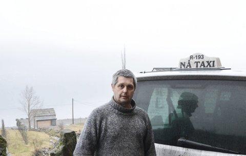 Fekk avslag:  Leiar for Nå taxisentral, Aldo Baas, håper likevel på ei løysing. Foto: Mette Bleken