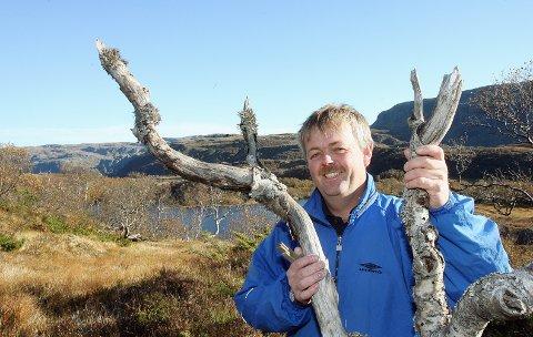 Grunneier: Kjell Ove Leite var grunneiernes kontakt med byggefirmaet og talsmann da planene ble lansert i Haugesunds Avis i 2007, men trakk seg og har ikke vært part i rettssaken. Her er han fotografert i utbyggingsområdet den gang.