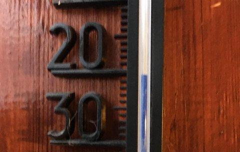BRRRR: Det er en uvanlig kald desembermorgen på Vågslid fredag.
