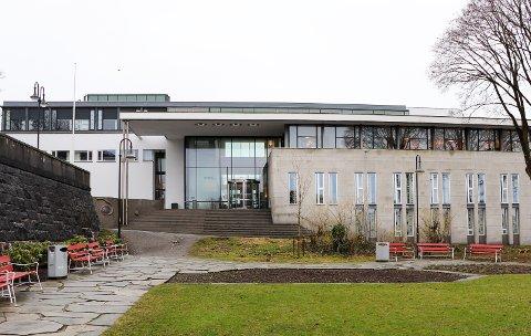 INNBRUDD: Mann i slutten av 20-årene knuste og ødela på Høgskulen på Vestlandet.