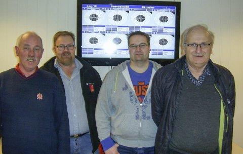 Siden Starten: Disse fire har vært med på Juletreffen siden oppstarten i 2007. Fra venstre Rune Mosheim, Jørn Olsen, Drevja skytterlag, Gjermund Svartvatn og Magne Mjåvatn, Ømmervatn skytterlag.  FOTO: GUDMUND RØSDAL