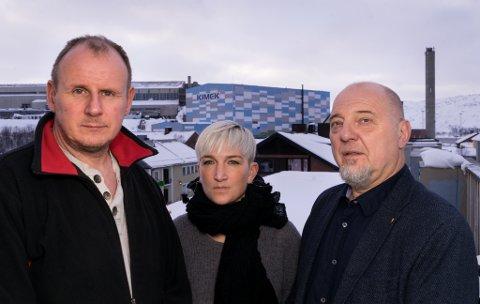 FORBAUSET: EU-parlamentet skal ta stilling til et krav om totalforbud mot utvinning av olje og gass i Arktis. Det gir et farlig signal, og er noe hele Nord-Norge bør reise seg imot, mener fylkessekretær Bjørn Johansen i LO (fra venstre), leder Guro Brandshaug i Kirkenes Næringshage og ordfører Rune Rafaelsen (Ap).