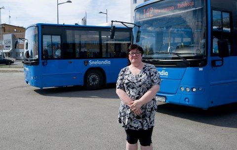 Endring: Bente Monica Leirbakken, leder i LO Alta vil ha ruteendringer i Alta.