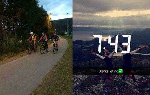 TOPPTURMARATON: På søndag gjjenomførte Marianne Bredal-Hansen, Synnøve Opgård og Andrine Ordemann Olsen hele Alta 10-toppers.