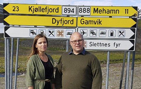 MÅ DELE: Ordførerne Stine Akselsen og Trond Einar Olaussen jubler over at de slipper å dele distriktskvota med andre. 3000 tonn torsk er et betydelig kvantum når det bare er to kommuner det skal deles på.