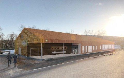 KLAR PLAN: Slik ser fylkeskommunen den nye klinikken i Tana.