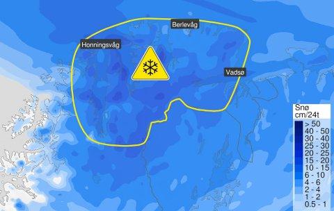 DÅRLIG VÆR: Meteorologene har sendt ut gult farevarsel.