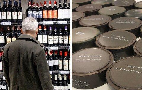 VIL HA PRISENE NED: FrP vil redusere avgiftene på øl, vin og snus til svenskenivå.