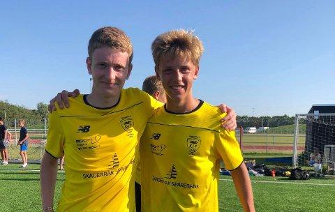 MÅLSCORERE: Otto Ehnebom (t.v.) og Filip Rønningen Jørgensen scorte hvert sitt mål.