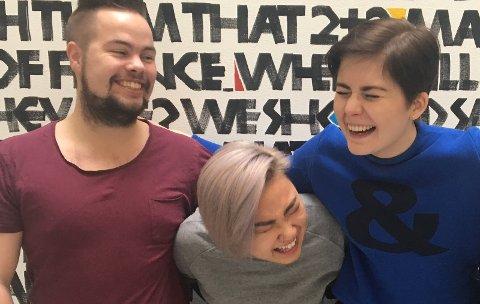 Årets fadderstyre: fra venstre: Erlend Blom, Regine Løvås og Selma Meyer-Mørch