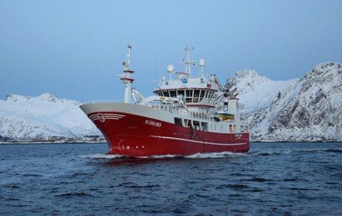 """FANGSTTOPPEN: Hele 6.700 fisk ble tatt om bord i """"Sander Andre"""" i fjor."""