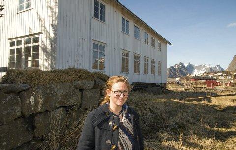 Runhild Olsen på Reine.