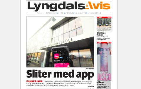 FAKSIMILE: Lyngdals Avis 19. oktober.
