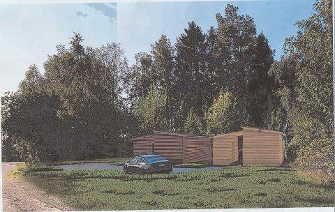ROBUSTE BOLIGER: Moss kommune vil sette opp åtte slike robuste boliger i Moss og gamle Rygge, blant annet i Parkveien 27 på Halmstad. Der har det kommet mange klager fra naboer.