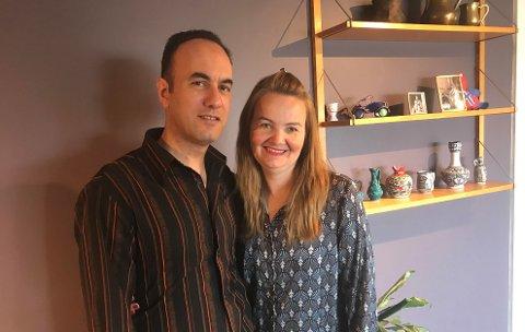 Nicolas og Ingjerd Bandak følger med på urolighetene i Israel og Palestina fra hjemmet i Saltnes.