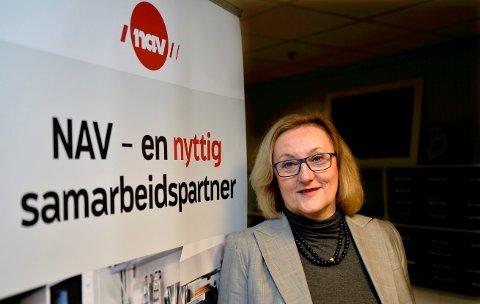 POSITIV: – Utviklingen går i riktig retning, sier regiondirektør i NAV Trøndelag, Bente Wold Wigum.