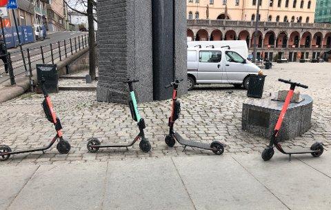 POPULÆRE: El-sparkesyklene har tatt hovedstaden med storm. Men på 17. mai fjernes de fra Oslos gater. Foto: Nina Schyberg Olsen