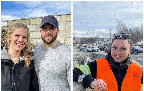 RYDDET: 17. mai og vårsesong skaper lange køer.  Fra venstre: Kathrine Stark (31), Marius Oterhals (33) og Karoline Pedersen (20).
