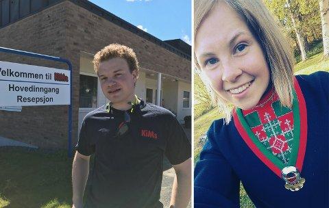 Gode karakterer: Jonill Margrethe Fjellheim Knapp og Kjetil Amundsen Hveem kan være godt fornøyde med innsatsen som resulterte i flust av seksere på vitnemålet.
