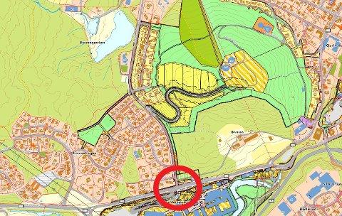 KRITISERT KRYSS: Vegvesenet er langt fra fornøyd med Gjøvik kommunes forslag til løsning for krysset mellom Raufossvegen og Mathias Topps gate.