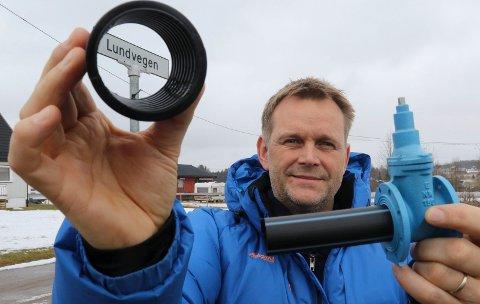 LEDNINGER OG VENTILER:  FAgansvarlig og prosjektleder i Våler kommune, Kristian Dalen,  forteller at det blir en omfattende opprusting i Nordhagen-området på Braskereidfoss.