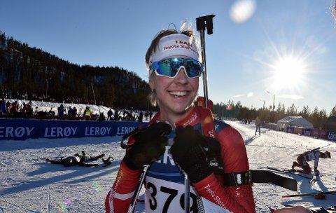 STRÅLTE FOR SØLV: Tynsetingen Jakob Høsøien kunne fornøyd slå fast at en ny NM-medalje ble sikret fredag ettermiddag.