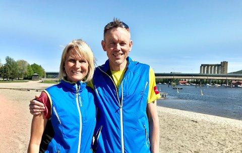 Mona Kjeldsberg og Einar Iversen kan glede seg over svært stort interesse for det ekstreme langløpet med målgang på Verdens Ende og start i Oslo.