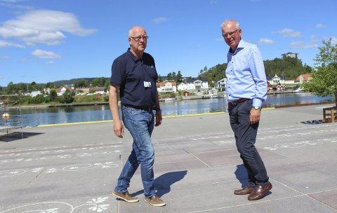 Wold og Flogstad vil samarbeide «som i en symbiose» på Frednes, og lage prosjekt for løft og byutvikling. Wold har døra til kommunens pengebinge på gløtt for å gjøre Frednes til et attraktivt byrom.