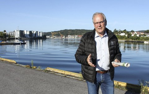 RUSTE OPP: Øystein Beyer vil ruste opp gjestebrygge.