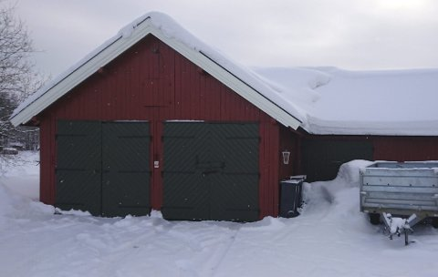 Fra 90 til 824 kvadratmeter: Uthuset til Bjørn Sæthre i Brumunddal er de siste årene blitt kraftig utvidet, hvis vi skal tro verdiberegningen til Ringsaker kommune. Foto:   Privat